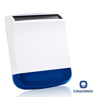 Chuango External Solar-Powered Siren Strobe - Home Alarm System