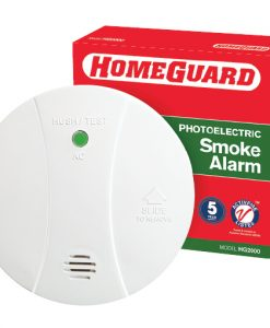 Homeguard 240VAC Photoelectric Smoke Alarm