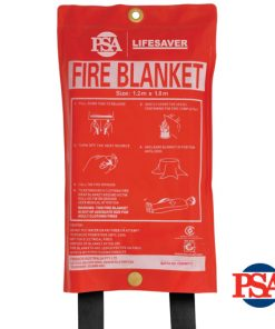 Lifesaver 1.2m x 1.8m Fiber Glass Fire Blanket