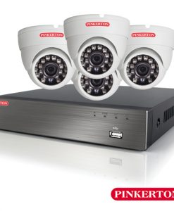 Pinkerton 8CH 1080P HD CCTV Kit & 4 x IP66 Dome Security Cameras