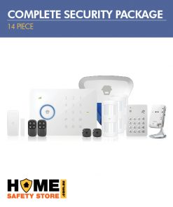 14 Piece Complete Wireless Security Package; Wireless 3G Alarm Kit, Pet Immune Wireless Motion Sensors, Wireless External Strobe, Wireless Keypad, Indoor Wifi IP Camera - Home Alarm System