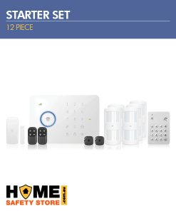 Wireless Alarm Kit 12 Piece Starter Pack; Wireless 3G Alarm Kit, Pet Immune Wireless Motion Sensors, Wireless Keypad
