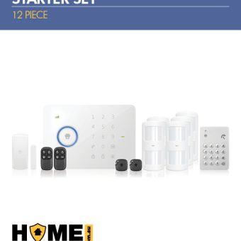 Wireless Alarm Kit 12 Piece Starter Pack; Wireless 3G Alarm Kit, Pet Immune Wireless Motion Sensors, Wireless Keypad