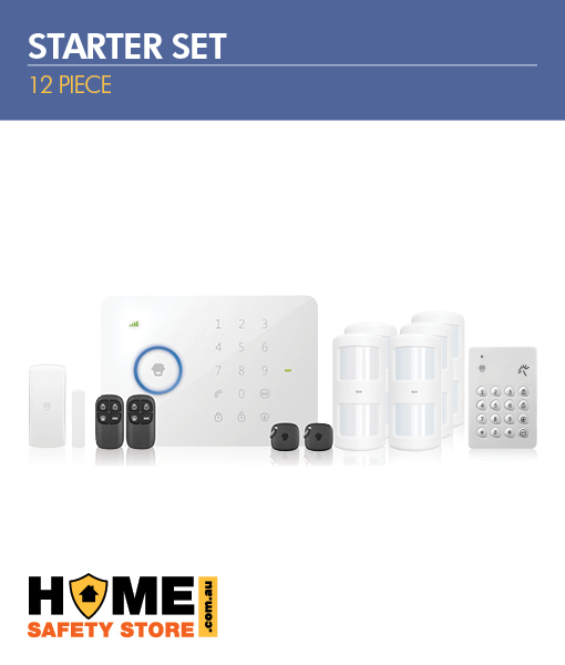 12 Piece Wireless Alarm Kit Starter Set