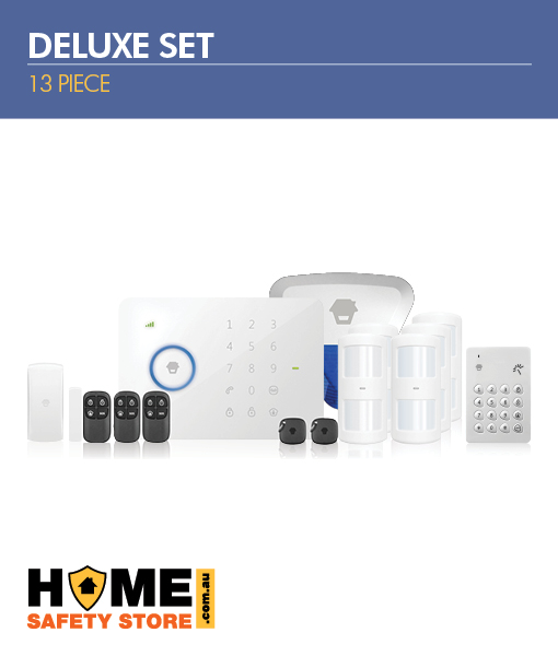Wireless Alarm Kit 13 Piece Deluxe Set For All Your Security Needs