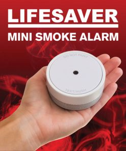 Lifesaver PE10 Mini Smoke Alarm with Photoelectric sensing technology