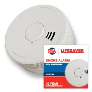 Lifesaver 10 Year Sealed Photoelectric Wireless Smoke Alarm